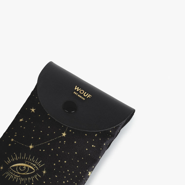 Galaxy velvet sunglasses case