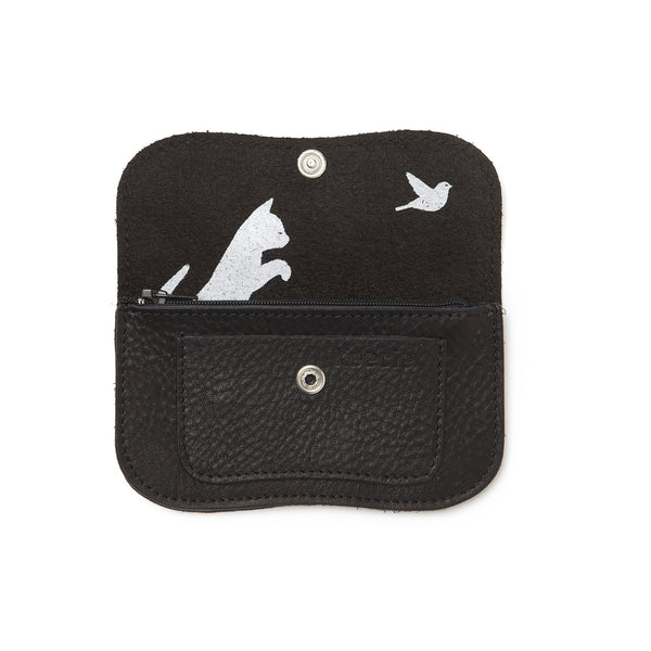 Cat Chase Wallet small black