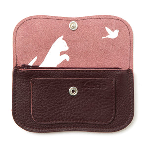 Cat Chase wallet small aubergine