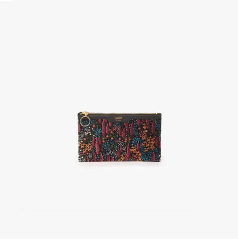 Leila velvet pocket clutch