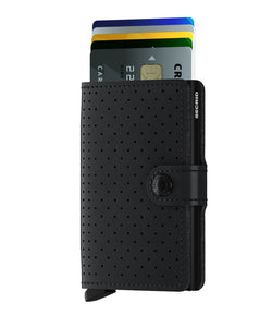 Miniwallet perforated black