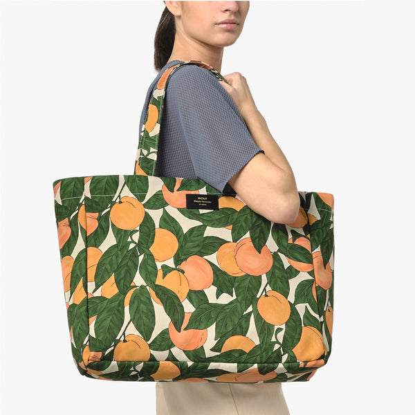 Peach large tote bag
