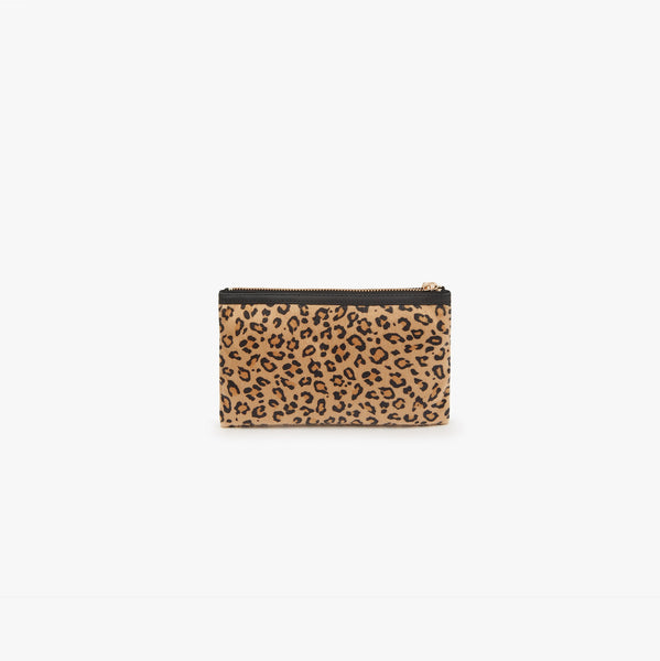 Safari faux hair pocket clutch