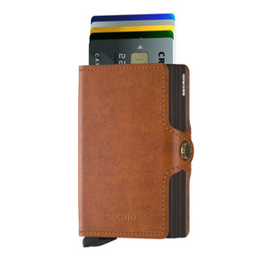 Twinwallet cognac brown