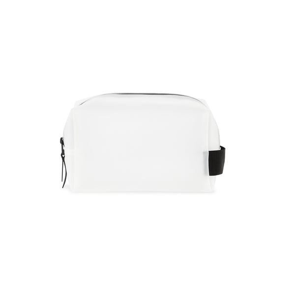 Wash bag small foggy white transparant