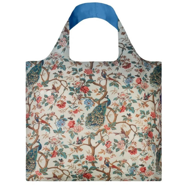 Bag museum peacock and peonies