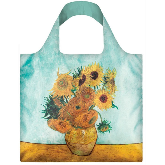 Bag museum vase with sunflowers