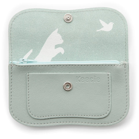 Cat Chase Wallet small dusty green