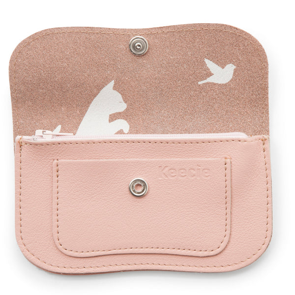 Cat Chase Wallet small soft pink