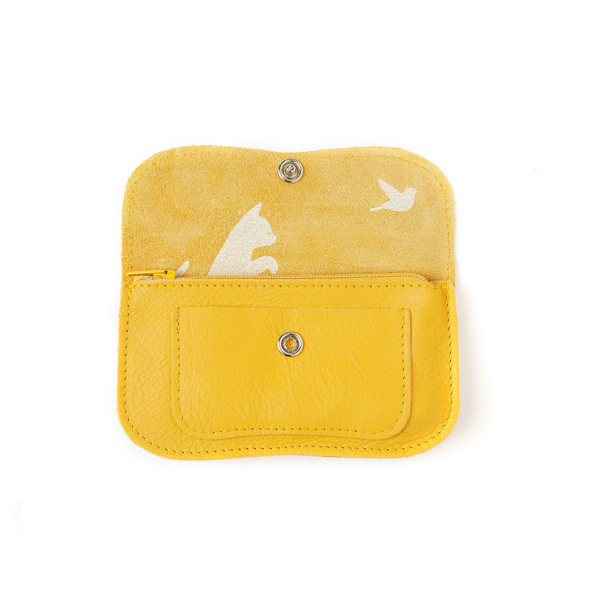 Cat Chase wallet small yellow