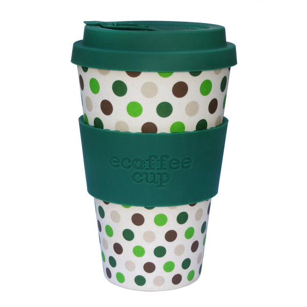 Drinkbeker green polka