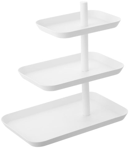 Serving stand 3 tiered white