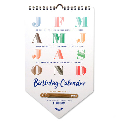 Happy Birthday kalender