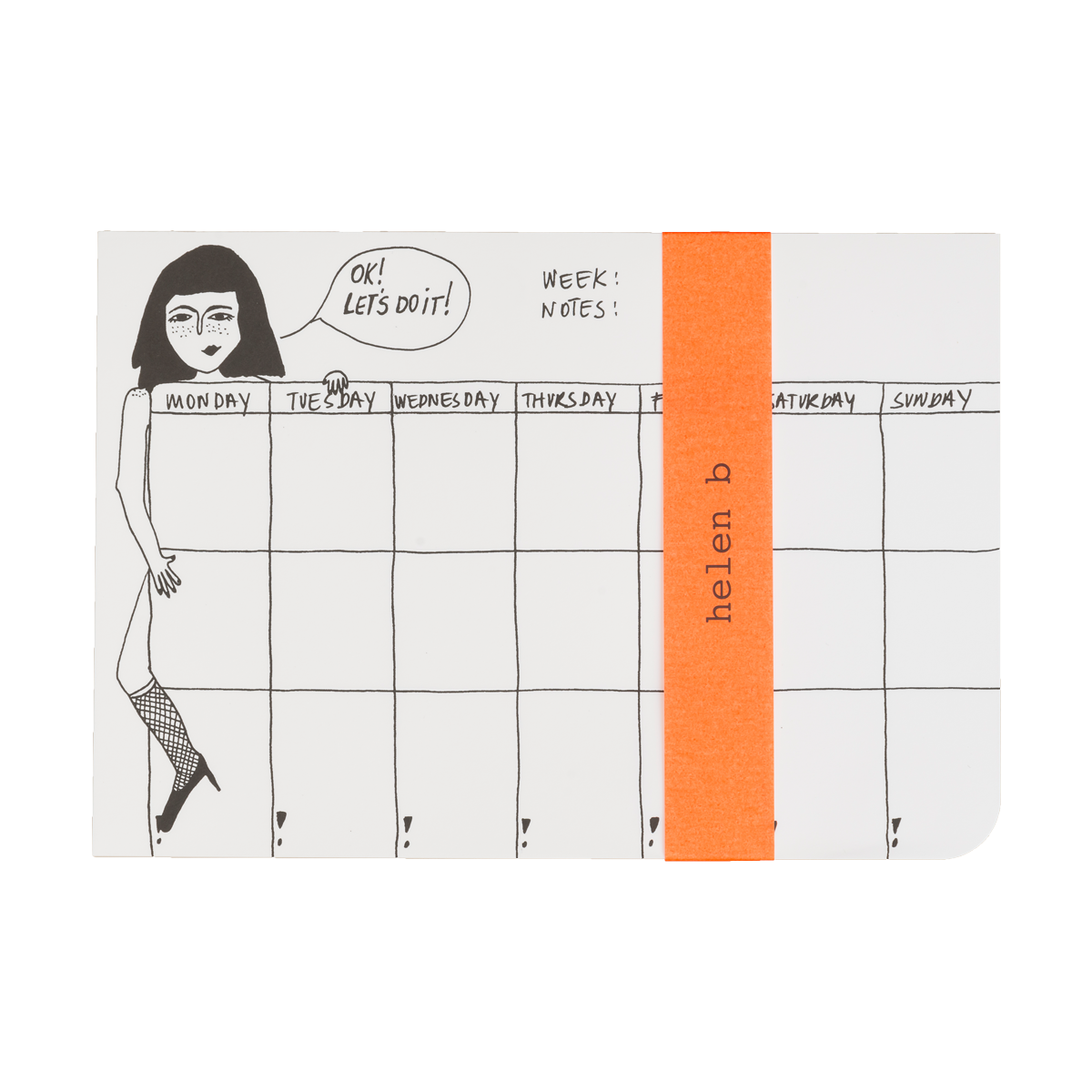 Weekplanner pin up
