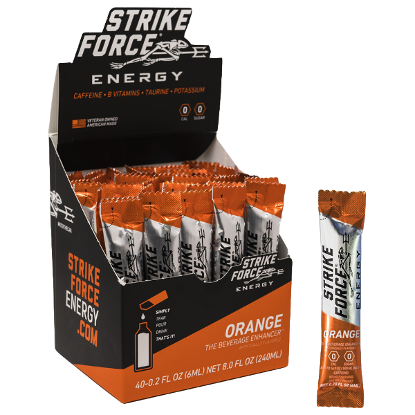 Strike Force, 40 Count Box - Orange Flavor