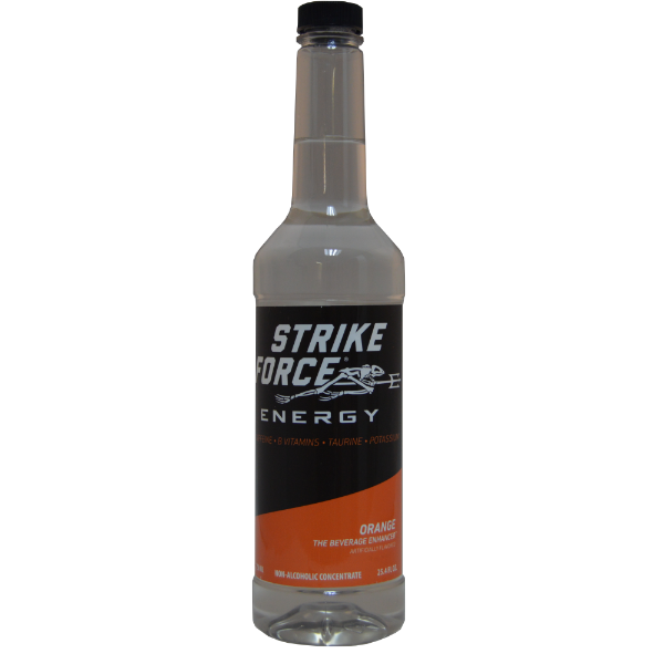 Strike Force Energy 750ml EZ-Pump Bottle - Orange