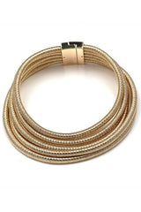 Dashikimall 7 Colors Statement Chic Coils Magnet Choker Necklace