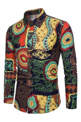 Shirts -  African Dashiki  3d Printed Shirts