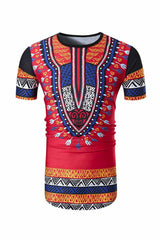 Dashikimall 3d Printed Africa Dashiki T-shirt