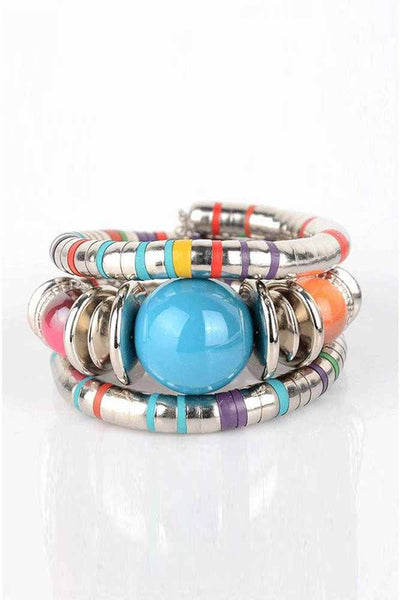 African Ethnic Style Color Ball Bracelet