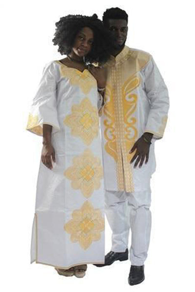Dashikimall Bazin Riche Robe Couples Set