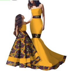 African women and daughters clothing printed clothing
