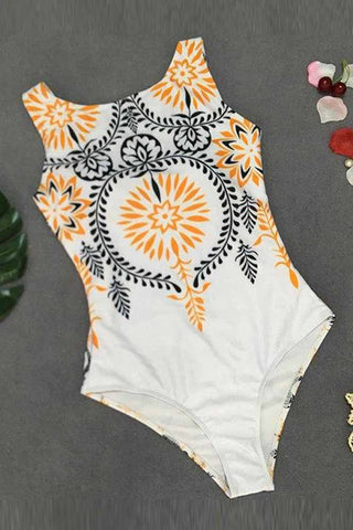 Retro Sexy Print One Piece SwimSuit