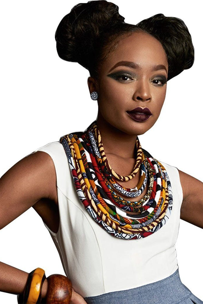 Dashikimall African Bohemia Style Rope Chain Necklace