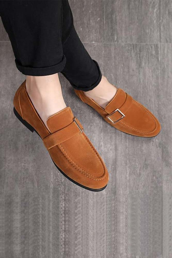 Dashikimall Men suede Leather Shoes