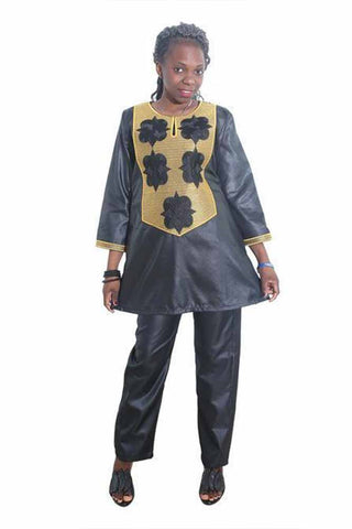 Dashikimall African Bazin Traditional Printing Embroidery Set
