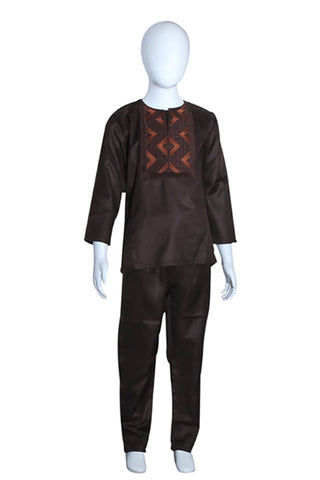 African Dashiki Men Kid Matching Outfit