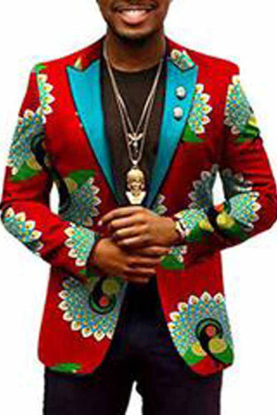 Dashiki African Bazin Riche Traditional Blazer