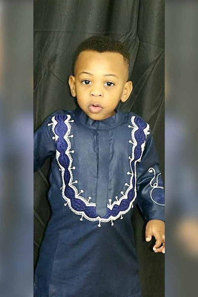 Set- African Soft Material Embroidery  For Baby Boy Top WITH Pants