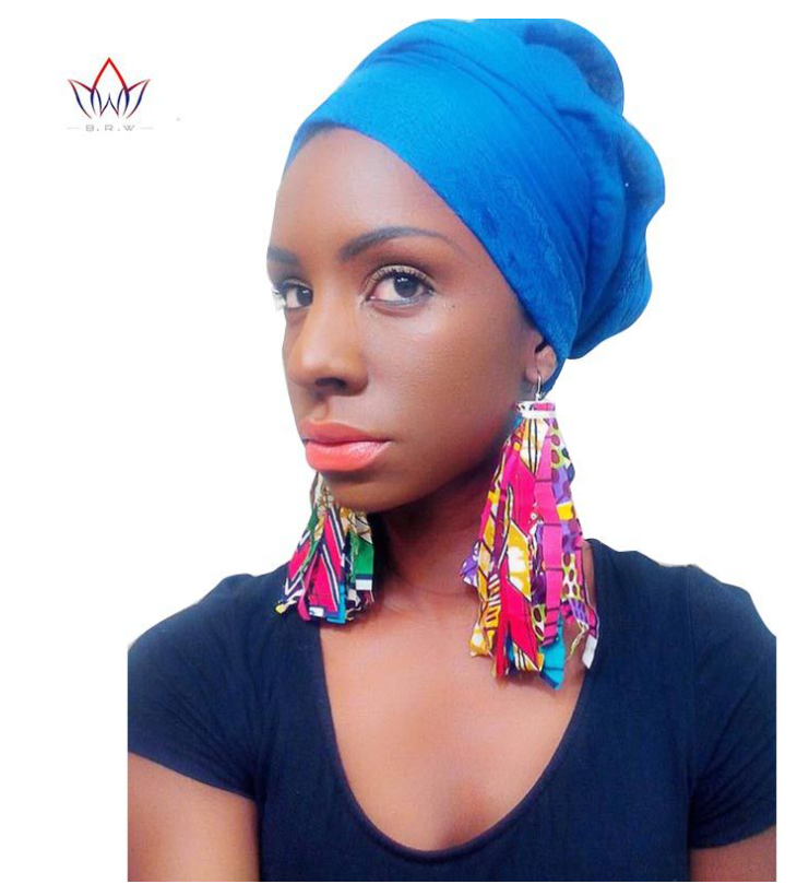 African ethnic jewelry tassel earrings
