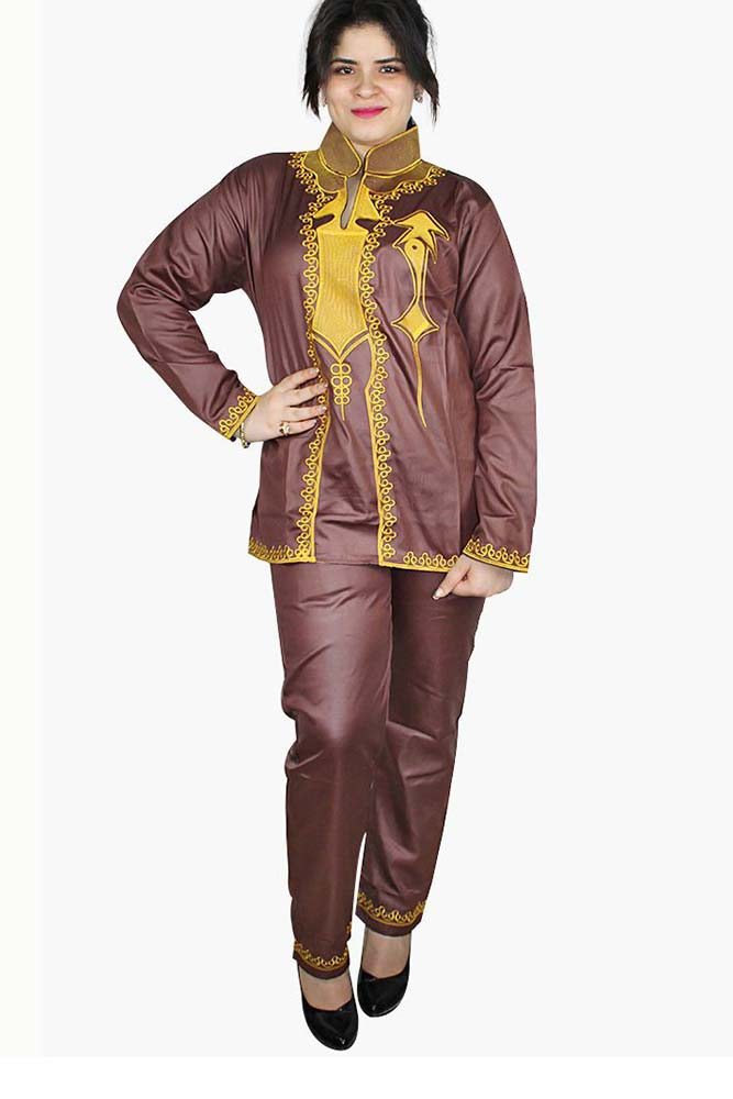 Dashikimall African Dashiki Shirt with Pants Set