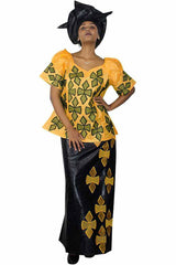 Dashikimall Traditional Dashiki Bazin Riche Set