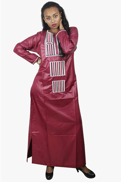African Bazin Riche Embroidery Dress