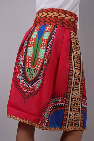 African Dashiki Digital Printing Skirts