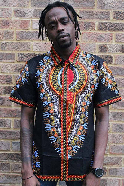 Men's  Tops -  African Traditional Pattern Shirt