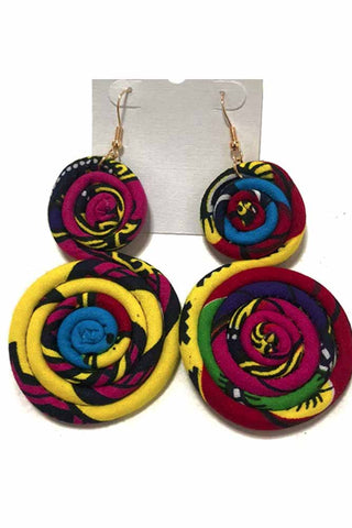 African Ankara Wax Print Earrings