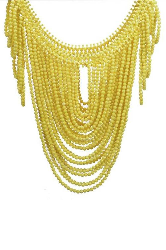 Dashikimall  Vintage Body Shoulder Bib Full Resin Beads Necklace
