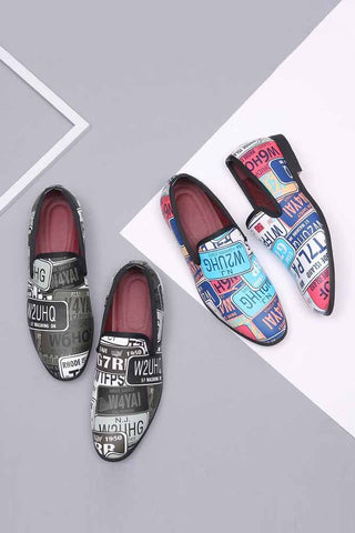 Dashikimall Colorful Letters Printed Loafers