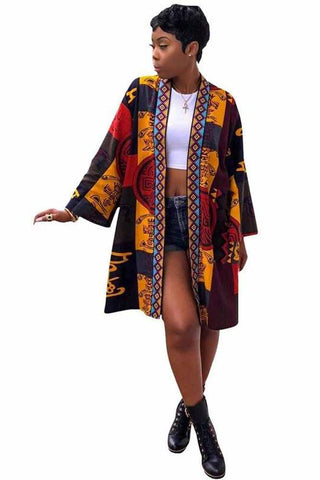 Dashikimall African Women Cardigan