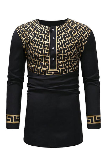 Dashikimall Men Traditional  Shirts