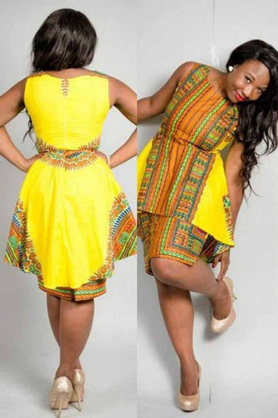 Dashiki African Classic High Elastic Dress
