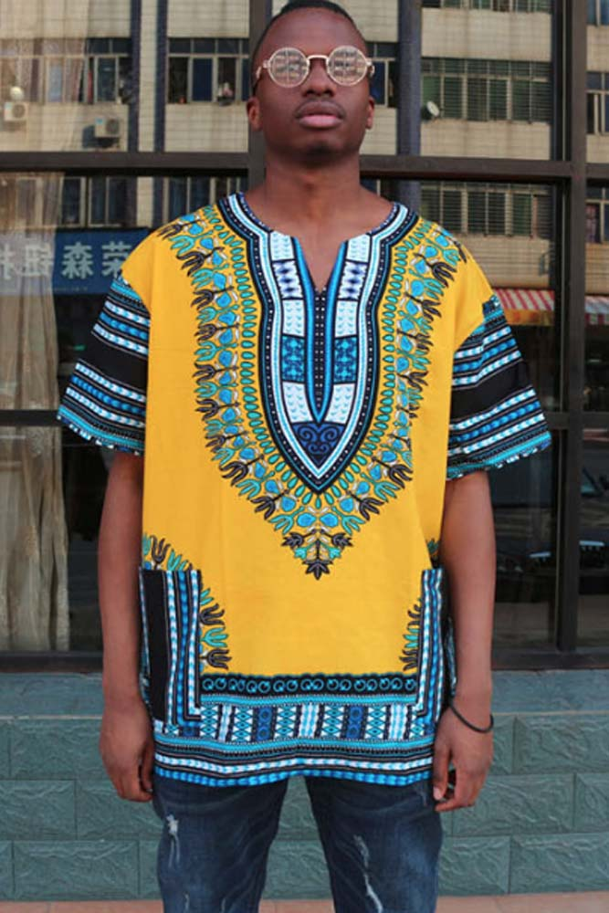 Dashikimall African Traditional Dashiki Print Shirt