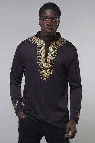 Dashikimall Traditional African  Dashiki Shirts