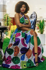 African Dashiki Traditional High Split Dress