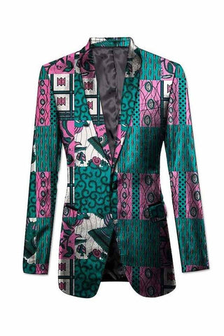 African party/wedding dashiki print suit jacket