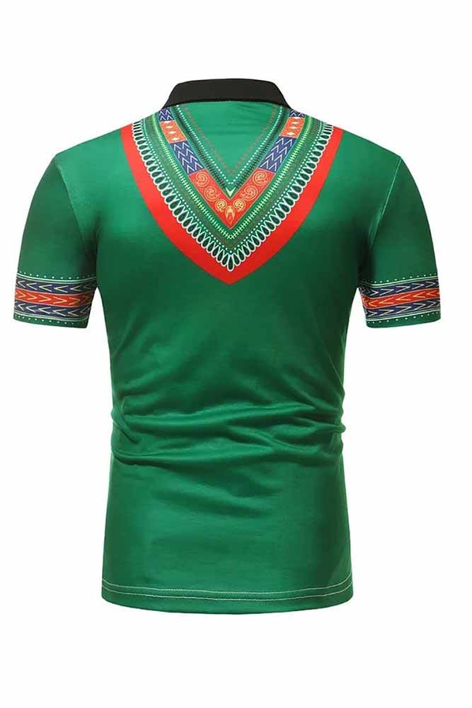 African Dashiki Polo T Shirt
